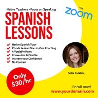Spanish lesson instagram template