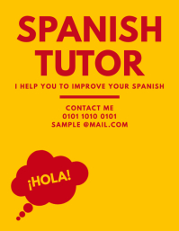 Spanish Tutor Teaching Flyer