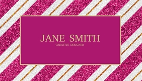 Sparkle Pink Business Card