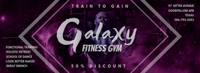 Sparkly Purple Gym Advert Facebook Cover