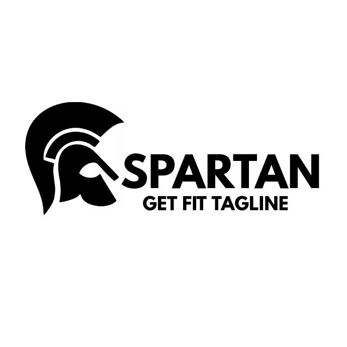 Spartan helmet gym logo