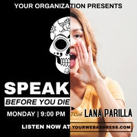 speak before you die | speak for your rights Albumcover template