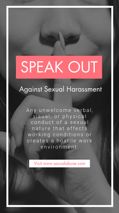 Copy of Speak Out Against Sexual Harassment Instagram ...