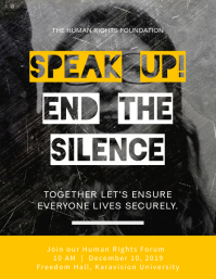 Speak Up! End the Silence Flyer