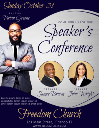 Speaker's Conference Church Event Flyer template