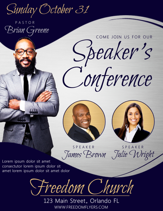 Speaker's Conference Church Event Flyer