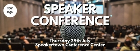 speaker conference Facebook cover template