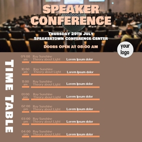 Speaker conference Time table planner
