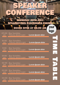 Speaker conference Time table planner