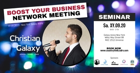 Speaker congress sminar business meeting ad Facebook Event Cover template