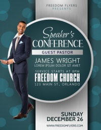 Speakers Conference Church Event Flyer