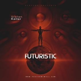 Speakers Futuristic CD Mixtape Cover Template