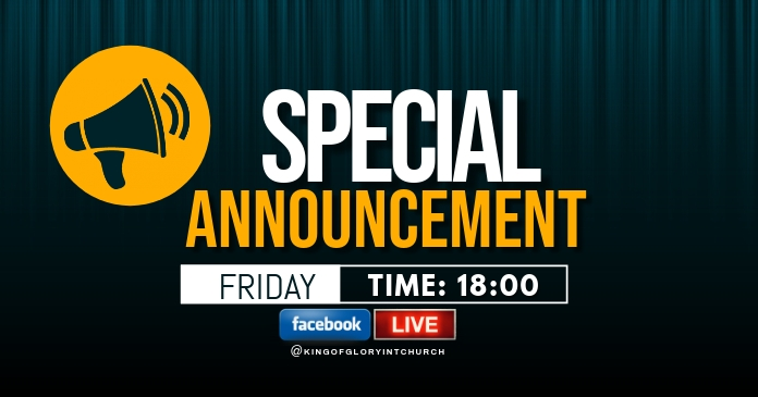 Special announcement flyer Gambar Bersama Facebook template
