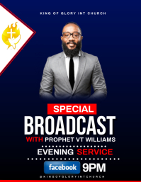 SPECIAL BROADCAST FLYER template