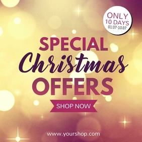 Special Christmas Offer Beauty Store Lights