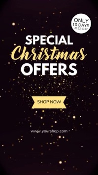 Special Christmas Offer Sparkle Store Lights Instagram Story template