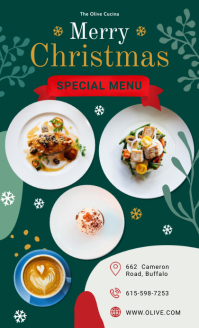 Special Christmas Restaurant Menu Template