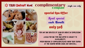 Special complimentary coupon vocher