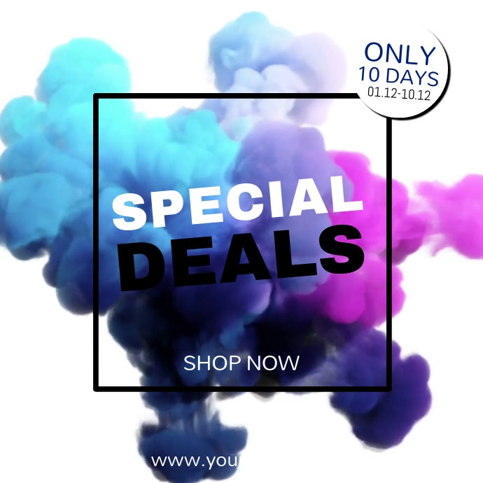 Special Deal Color Explosion Blue Video Ad