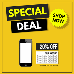 Special Deal Product Promo Discount Offer Advert Retail Sale 方形(1:1) template