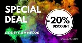Special Deal Promotion Template Discount Ad auf Facebook geteiltes Bild