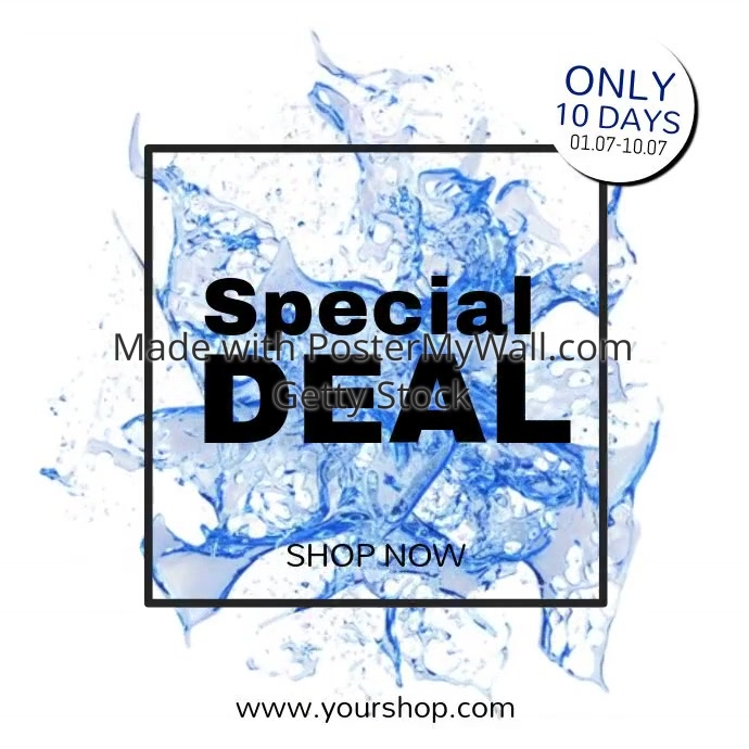 Special Deal Sale Summer offer video advert Shop now store