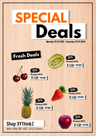 Special Deals Product flyer Poster Discount Sale Retail Food
