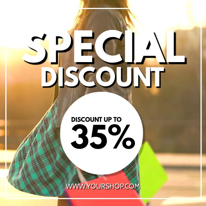 Special Discount Sale video Woman Shopping advert promo