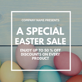 Special easter sales instagram post