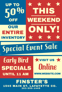 Special Event Sale Poster template