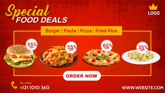 Special Food Deals Post sa Twitter template