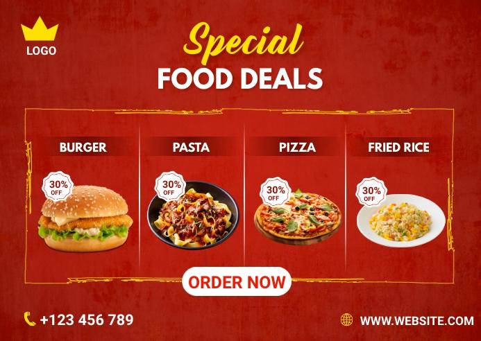 Special Food Deals Kartu Pos template