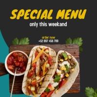special food menu social media post template Wpis na Instagrama