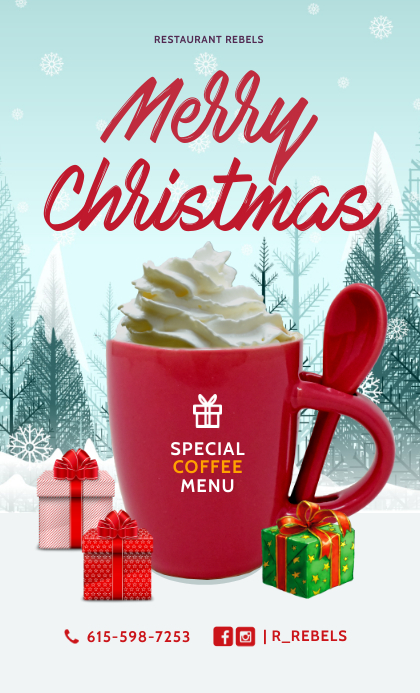 Special Gift Christmas Restaurant Menu Templa US Legal template