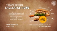 Special Menu Food Offer Video Ad Digital Display (16:9) template