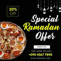SPECIAL MENU RAMADAN OFFER Instagram Post template