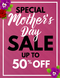 special mother's day sales flyer template