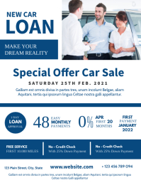 special offer car place white and blue colors Flyer (US Letter) template