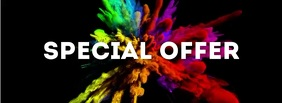 Special Offer header Banner color explosion Facebook-coverfoto template