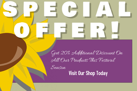 special offer template poster