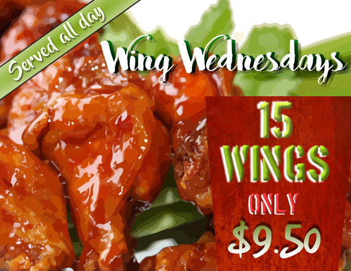 Special Offer Wings Flyer Poster Restaurant Template Customization
