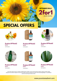 Special Offers Template Din Beauty Advert A4
