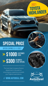 Special price car dealership Instagram Story template