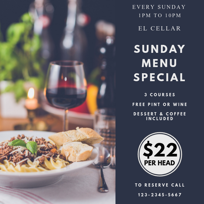 Special Restaurant Deal Template