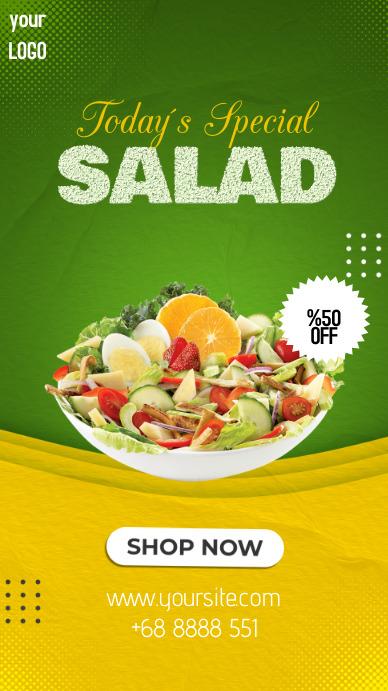 Special Salad Instagram 故事 template