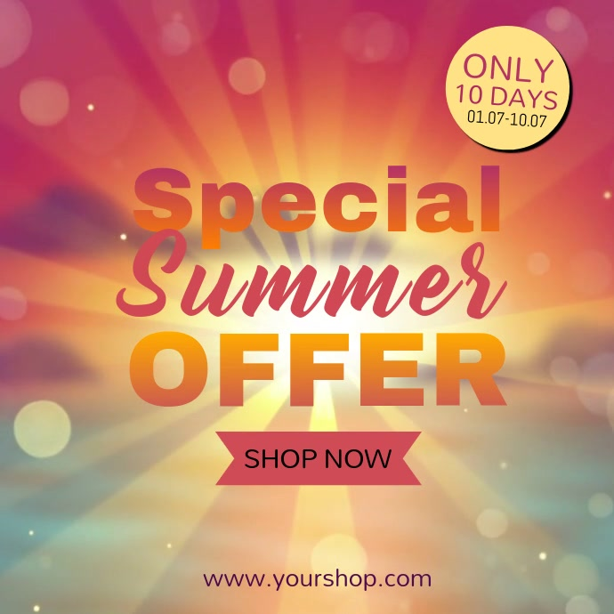 Special Summer offer video advert beach shine sun promo