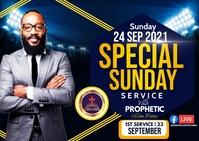 Special Sunday Poskaart template