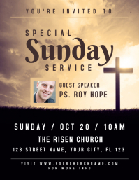 Special Sunday Service Church Flyer