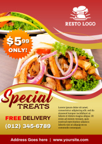 Special Treat Restaurant Flyer