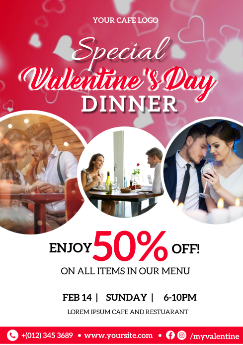 Special Valentine Flyer Template A4